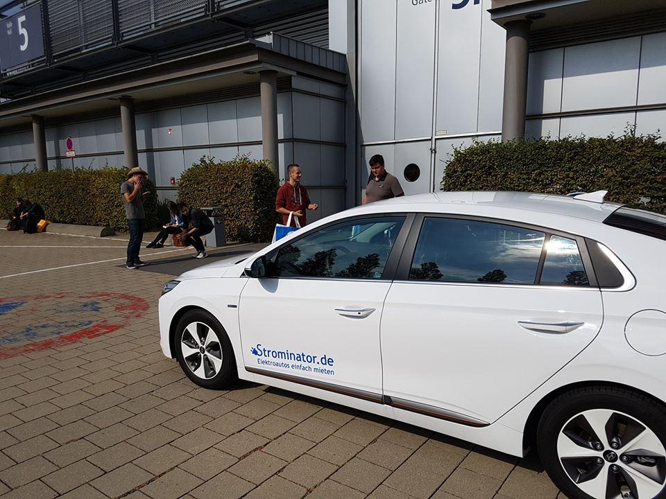 Strominator auf efa in Leipzig Probefahrten Test Drives Hyundai IONIQ Premium zu verkaufen