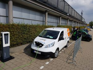 Strominator auf efa in Leipzig Probefahrten Test Drives Nissan eNV-200 Premium zu verkaufen